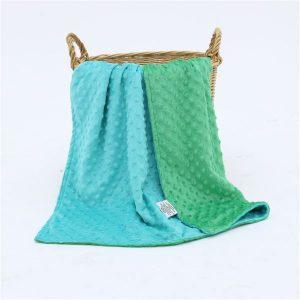 Minky deka Green