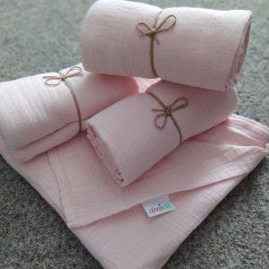 Mušelínová deka Baby Pink